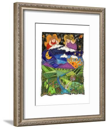Big Diva Angels Quilting Our World-Wyanne-Framed Giclee Print