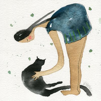 Big Diva Cat Scratch-Wyanne-Giclee Print
