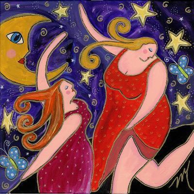 Big Diva Moon Goddesses Dancing-Wyanne-Giclee Print