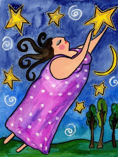 Big Diva Reach for the Stars-Wyanne-Giclee Print