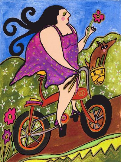 Big Diva Riding Bicycle-Wyanne-Giclee Print