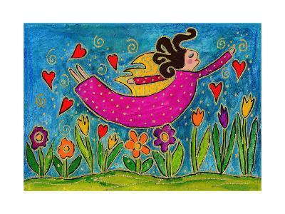 Big Diva Sprinkling Garden with Love-Wyanne-Giclee Print