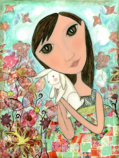 Big Eyed Bunny Girl-Wyanne-Giclee Print
