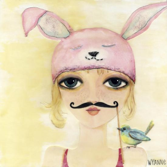 Big Eyed Girl Be Yourself-Wyanne-Giclee Print