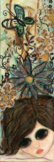 Big Eyed Girl Daydream Garden-Wyanne-Giclee Print