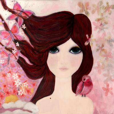 Big Eyed Girl Emerging-Wyanne-Giclee Print