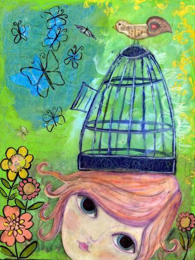 Big Eyed Girl it's All in My Head-Wyanne-Giclee Print