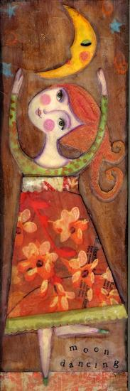 Big Eyed Girl Moon Dancing-Wyanne-Giclee Print