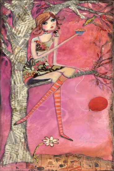 Big Eyed Girl Muffin Tree-Wyanne-Giclee Print