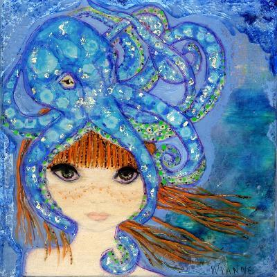 Big Eyed Girl Ocean Blue-Wyanne-Giclee Print
