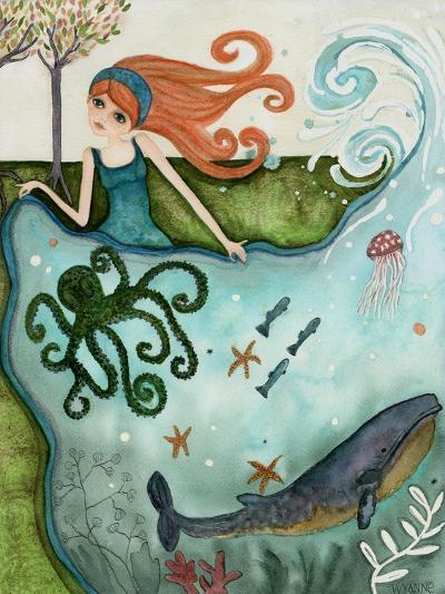 Big Eyed Girl Ocean Dreamer-Wyanne-Giclee Print