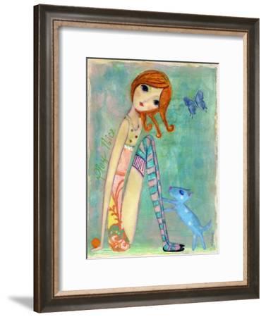 Big Eyed Girl Play Nice-Wyanne-Framed Giclee Print