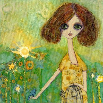 Big Eyed Girl Should You Stay or Should You Go-Wyanne-Giclee Print