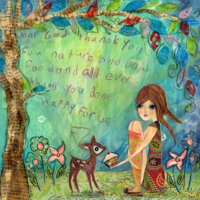 Big Eyed Girl the Blessing-Wyanne-Giclee Print