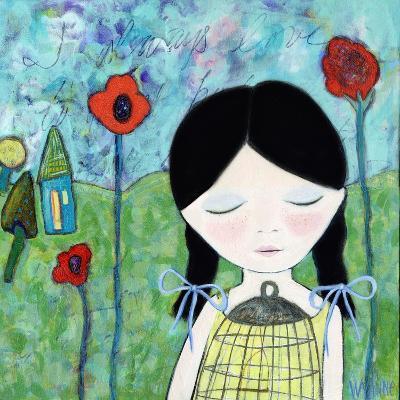 Big Eyed Girl Wish-Wyanne-Giclee Print