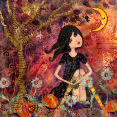 Big Eyed Tambourine Girl-Wyanne-Giclee Print