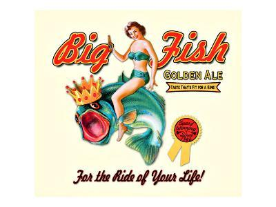 Big Fish Golden Ale--Giclee Print