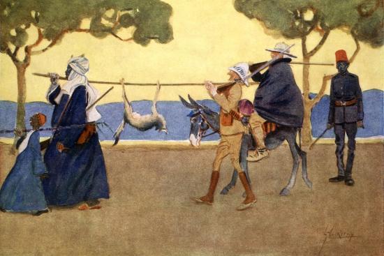 Big Game Hunters', 1908-Lance Thackeray-Giclee Print
