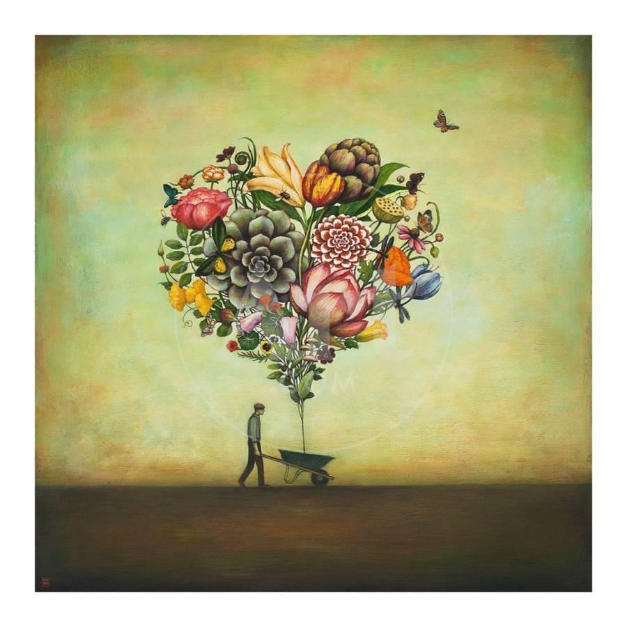 Big Heart Botany Art Print by Duy Huynh | Art.com