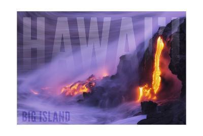 Big Island - Hawaii - Lava Flow-Lantern Press-Art Print