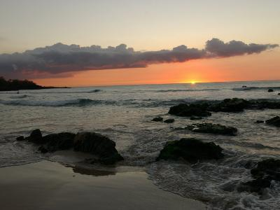 Big Island of Hawaii - Sunset from Beach-Keith Levit-Photographic Print