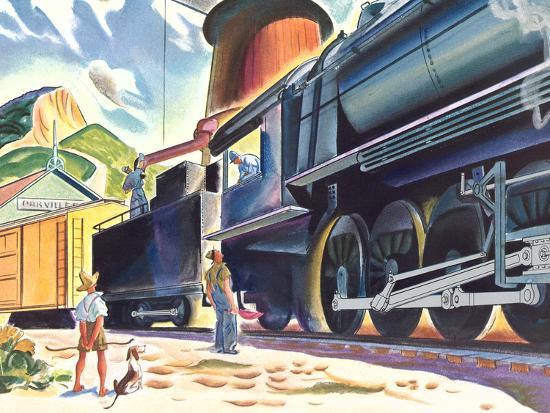 Big Old Train-Found Image Press-Art Print