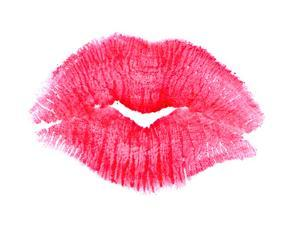 Big Pink Lipstick Kiss