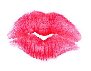 Big Pink Lipstick Kiss