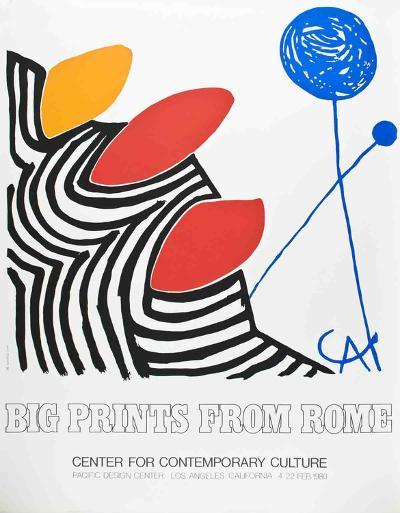 Big Prints from Rome-Alexander Calder-Serigraph