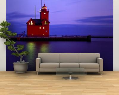 Big Red Lighthouse, Holland, Michigan, USA--Wall Mural – Large