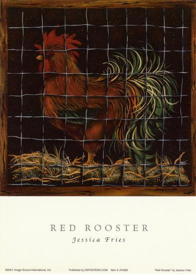 Big Red Rooster-Jessica Fries-Art Print