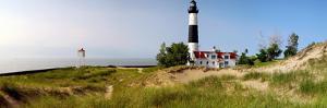 Big Sable Point Lighthouse, Lake Michigan, Ludington, Mason County, Michigan, Usa