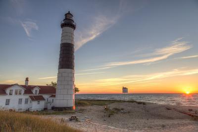 Big Sable Point Lighthouse on Lake Michigan, Ludington SP, Michigan-Chuck Haney-Photographic Print
