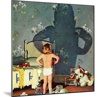 """Big Shadow, Little Boy,"" October 22, 1960-Richard Sargent-Mounted Giclee Print"