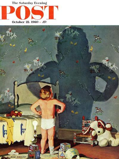 """Big Shadow, Little Boy,"" Saturday Evening Post Cover, October 22, 1960-Richard Sargent-Giclee Print"