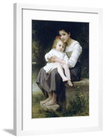 Big Sis-William Adolphe Bouguereau-Framed Art Print