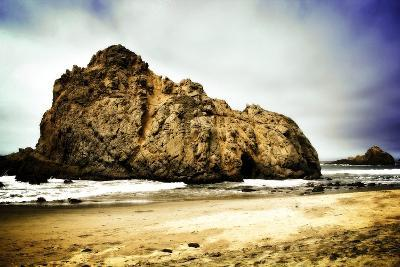Big Stone at Pfeiffer Beach Big Sur California USA- timla-Photographic Print