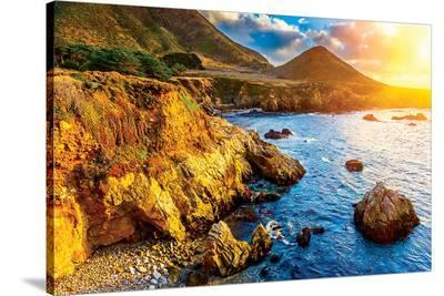 Big Sur CA - Pacific Sunset--Stretched Canvas Print
