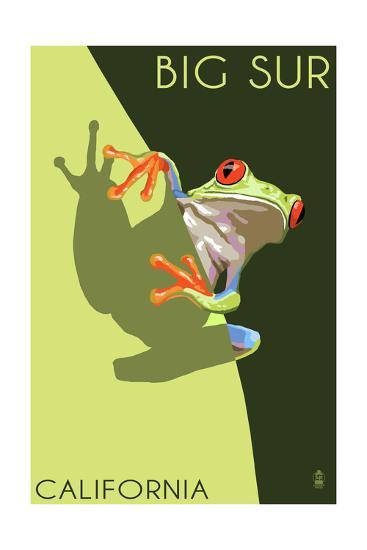 Big Sur, California - Tree Frog-Lantern Press-Art Print