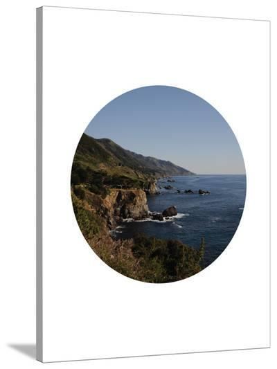 Big Sur Circle-Jetty Printables-Stretched Canvas Print