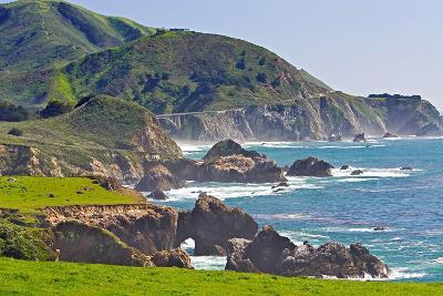 Big Sur Coastline at Rocky Creek-George Oze-Photographic Print
