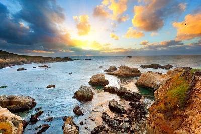 Big Sur Pacific Ocean Coast at Sunset-sborisov-Photographic Print