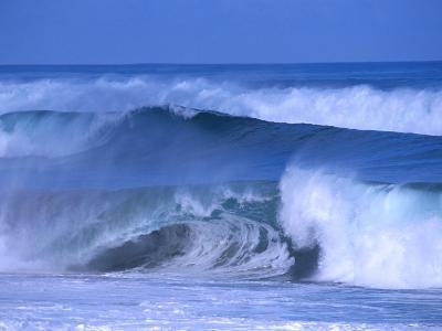 Big Surf at Papohaku Beach, Molokai, Hawaii, USA-Karl Lehmann-Photographic Print
