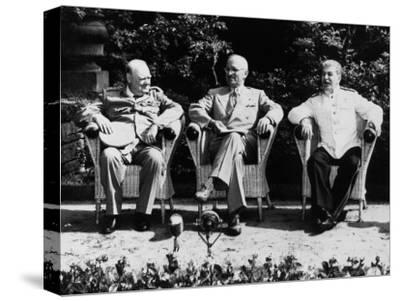 Big Three Allied Leaders at Potsdam Conference, Discussing Plans For the Future of Germany