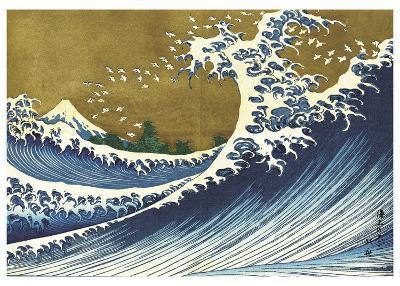 Big Wave (from 100 views of Mt. Fuji)-Katsushika Hokusai-Art Print