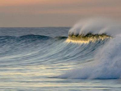 Big Waves Breaking at Sunrise at Emma Woods State Beach, California-Rich Reid-Photographic Print