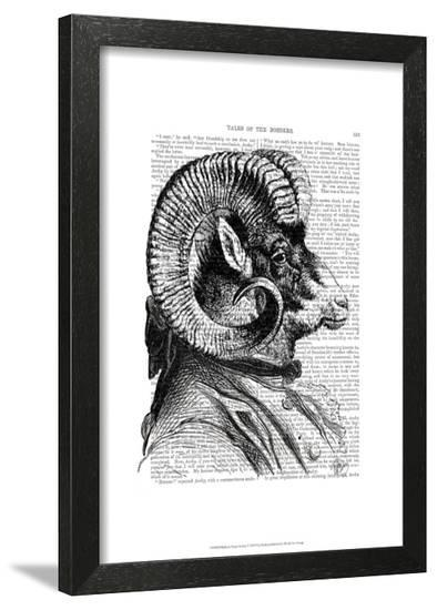 Bighorn Sheep In Suit-Fab Funky-Framed Art Print