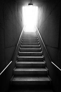 Black And White Stairway by BigKnell