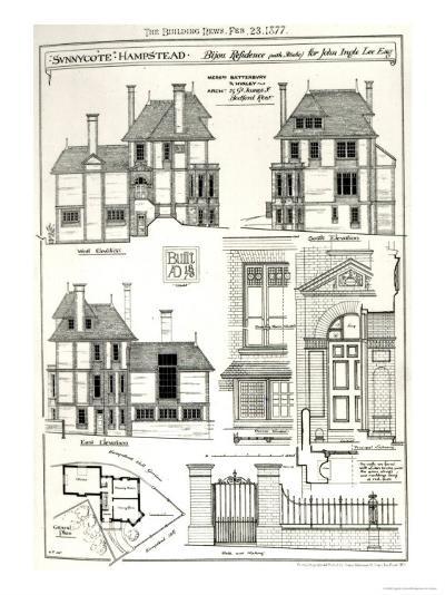 Bijou Residence Sunnycote, Hampstead--Giclee Print