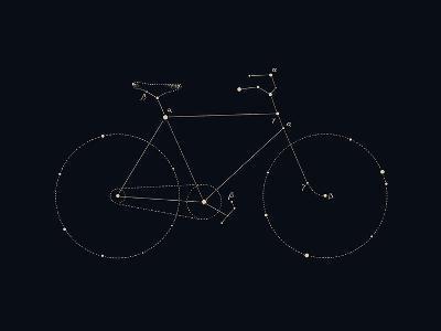 Bike Constellation-Florent Bodart-Art Print